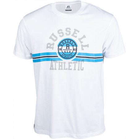 Russell Athletic COLLEGIATE STRIPE CREWNECK TEE SHIRT