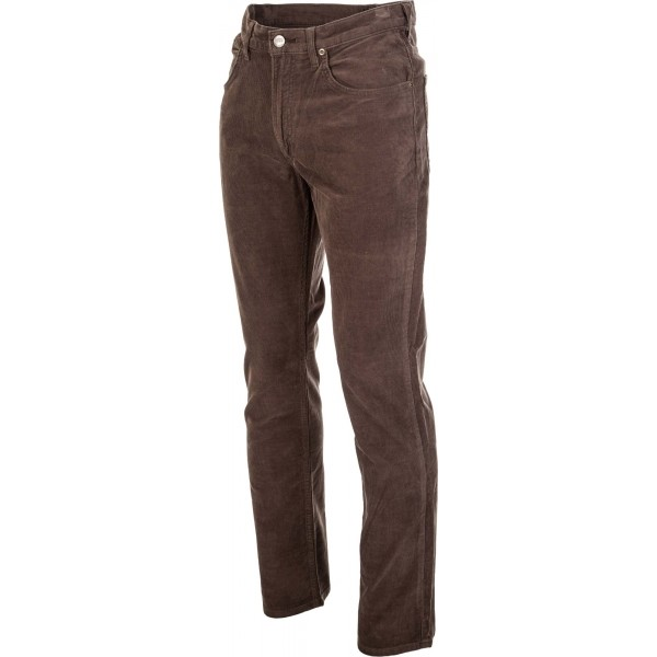 BROOKLYN STRAIGHT OLIVE GREEN - Pánske menčestrové nohavice