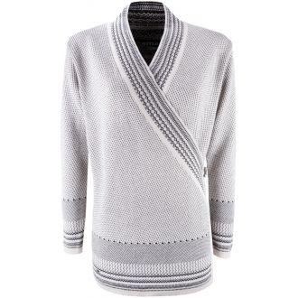 Dámsky zavinovací sveter