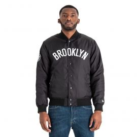 New Era BROOKLYN NETS TEAM WORDMARK VARSITY JACKET